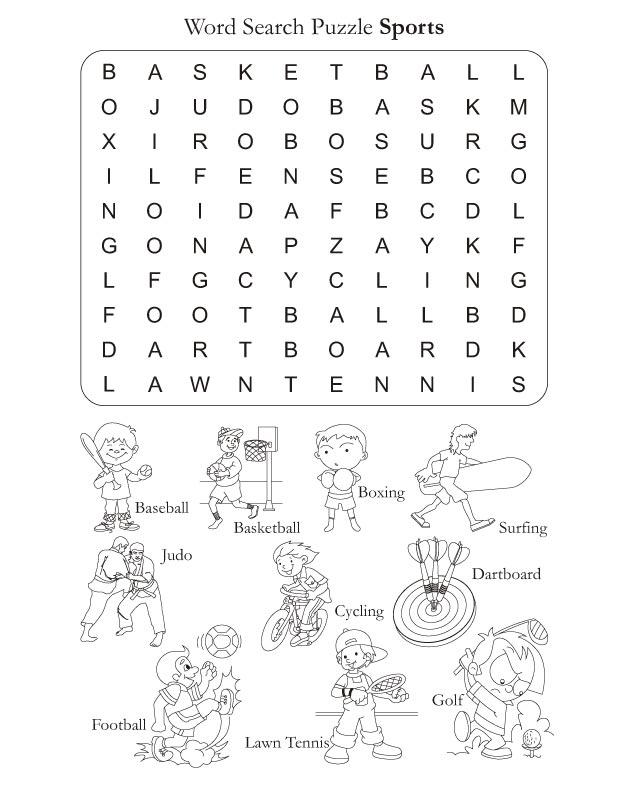 Sports Worksheets For Kids 11648