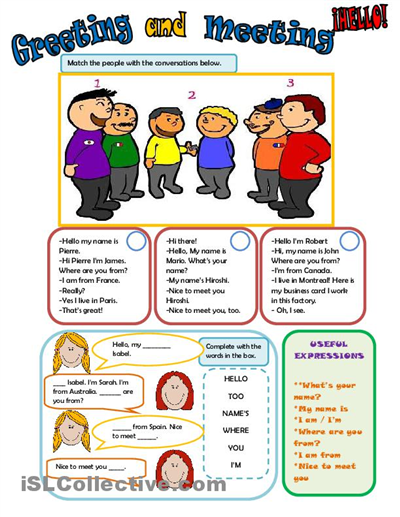Teaching Greetings In English Worksheets  Greetings In English 2