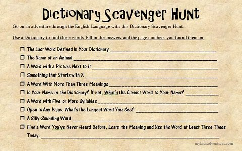 Ten Fun Scavenger Hunt Ideas For Your Kids