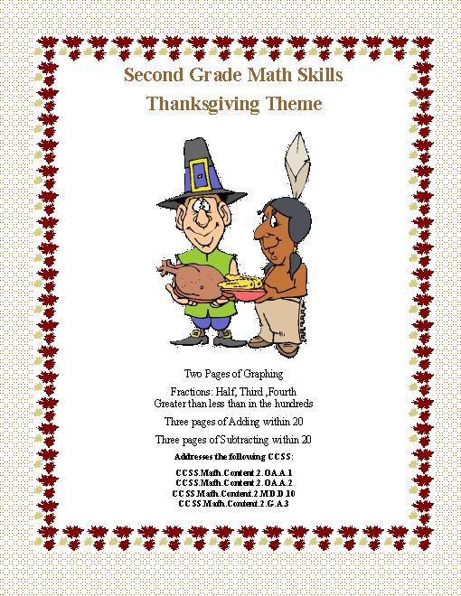 Thanksgiving Printable Math Worksheets Free Worksheets Library