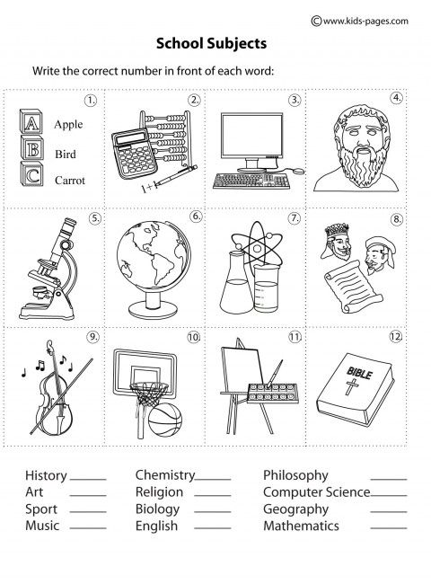 The 25+ Best School Subjects Ideas On Free Worksheets Samples