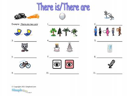 There Is There Are Worksheet For Kids