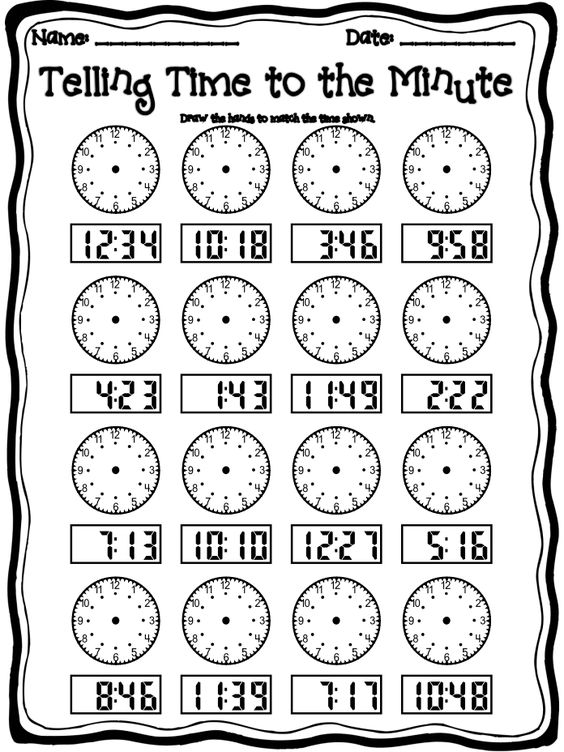 Time Worksheets Pdf Worksheets For All