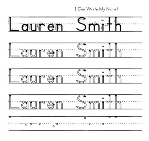 Trace Name Worksheets Worksheets For All