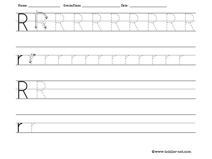 Tracing And Writing Letter R Worksheet