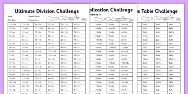 Ultimate Multiplication And Division Worksheet   Activity Sheet