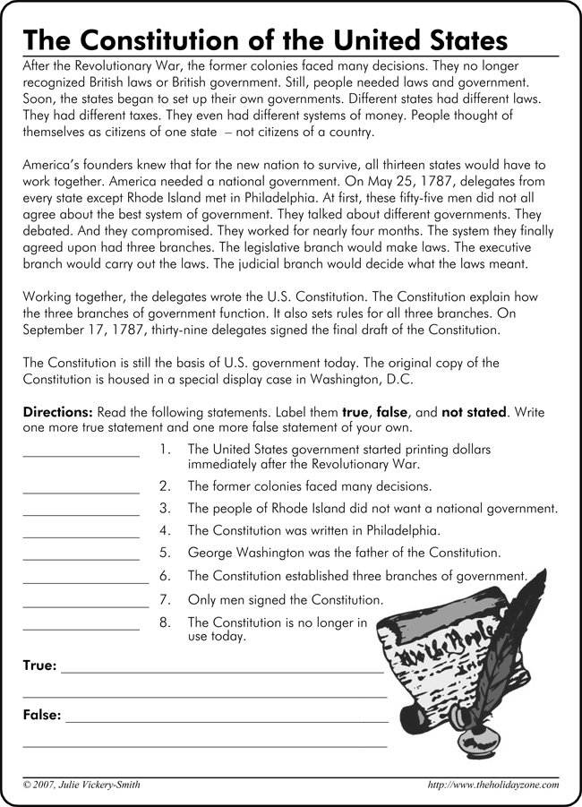 Us Constitution Worksheet Answers