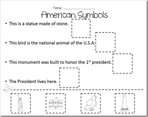 Us Symbols Worksheets For Kindergarten Worksheets For All