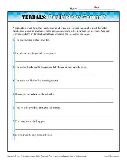Verbals  Participle Or Gerund