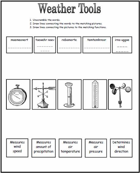Weather Tools Worksheet This Could Be A Great Worksheet To Use