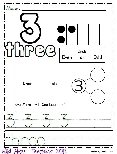Wild About Teaching! Numbers 0