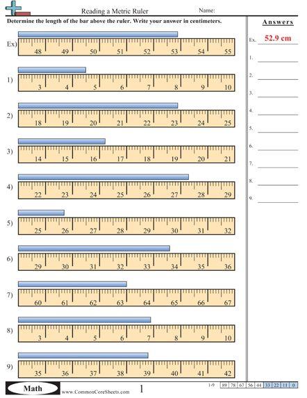 Worksheet) (e) More Measurement Worksheet Activities  This One