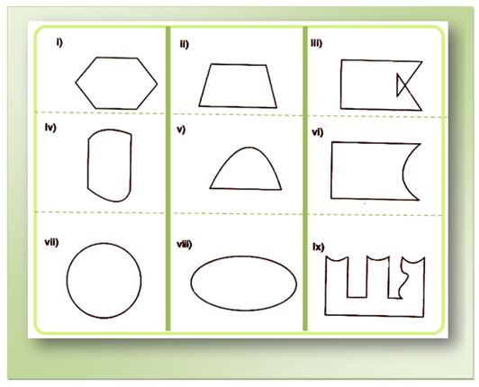 Worksheet On Closed Curves And Open Curves