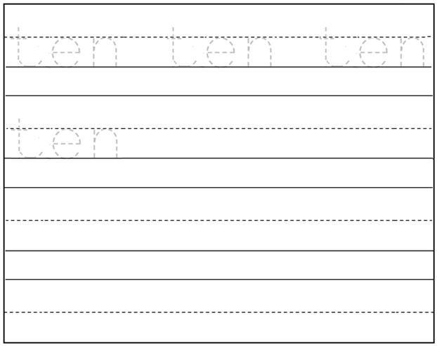 Worksheet On Number Ten Free Printable Worksheet On Number Ten