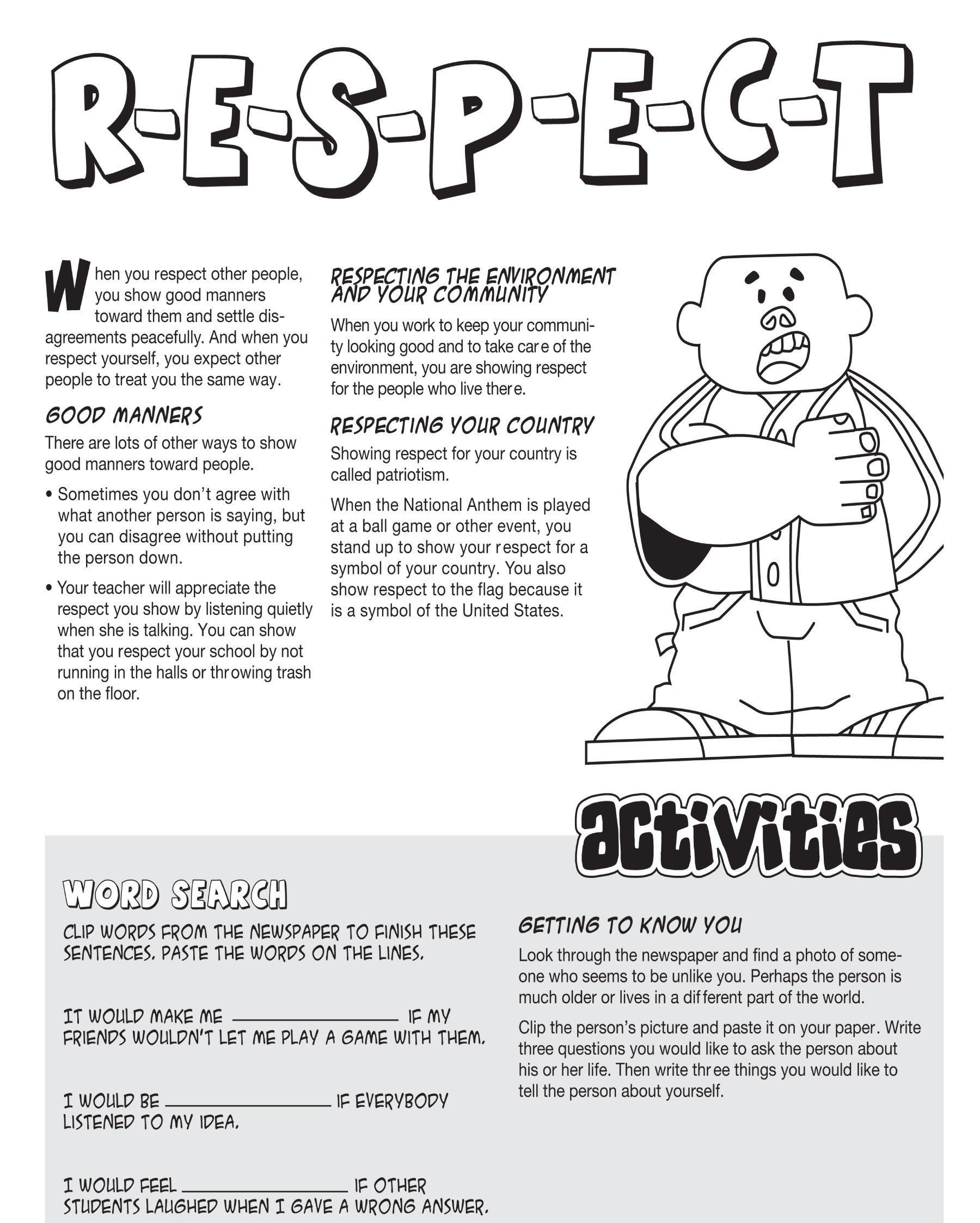 Worksheets About Respect