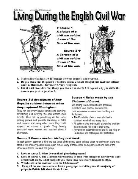 Civil War Worksheets Gambarsurat