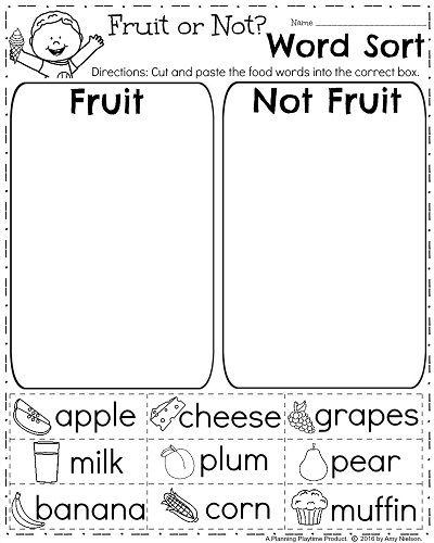 Worksheets For Kindergarten English