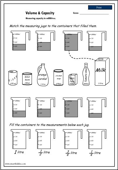 20 Best 3rd Grade Capacity Lessons Images On Free Worksheets Samples