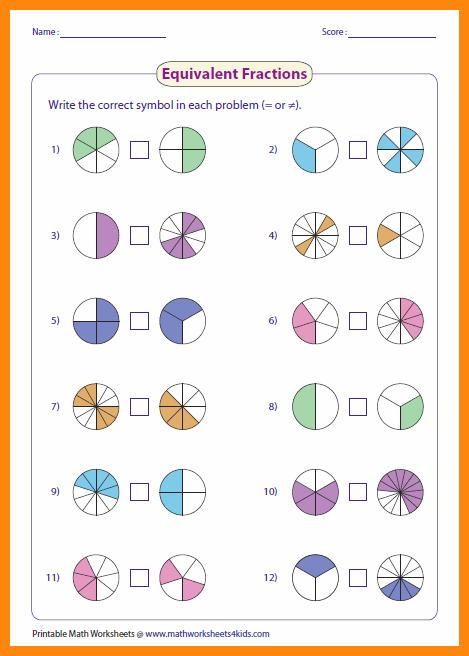 2+ Fractions Worksheets Grade 4