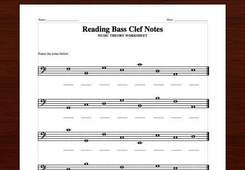 2 Free Printables  Naming Notes In The Treble & Bass Clefs – Lacie