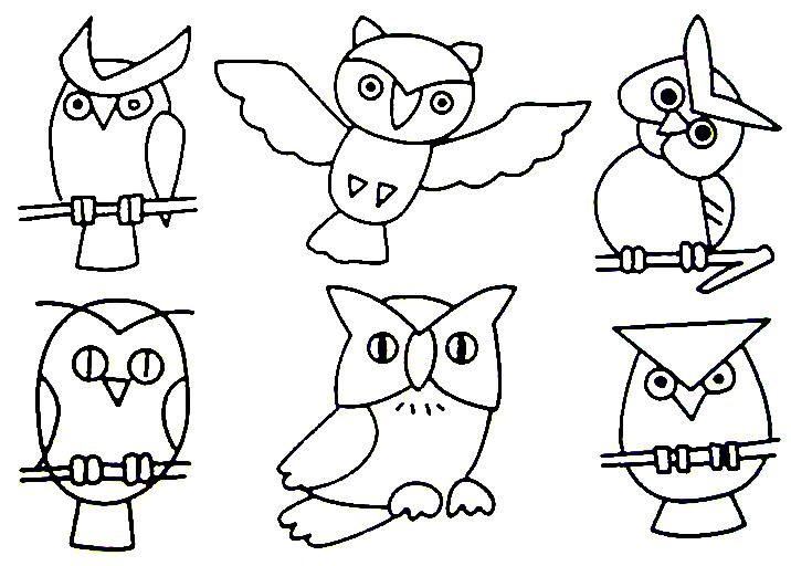 32 Best Free Owls To Color   Owl Worksheets
