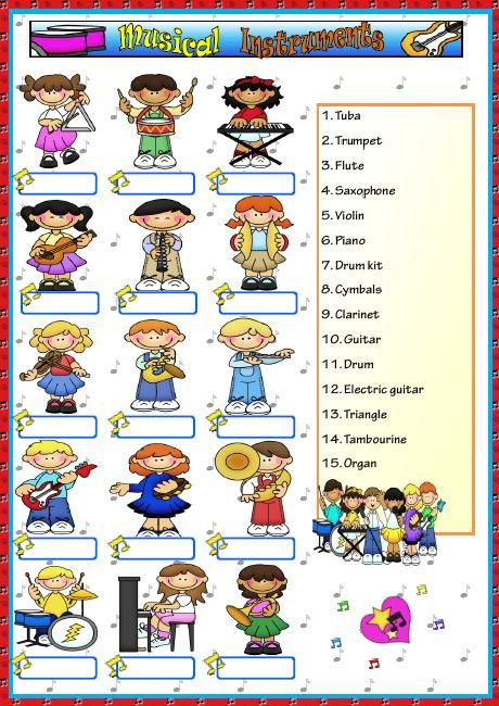 43 Best Instruments Of The Orchestra Images On Free Worksheets Samples