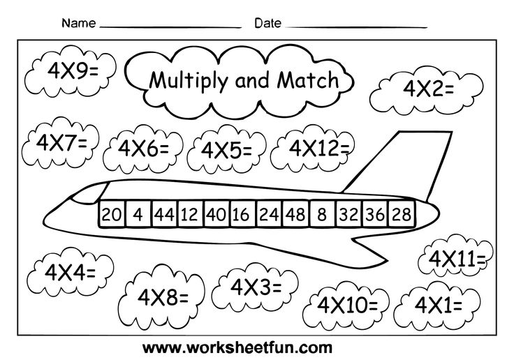 4 Times Table Worksheet Worksheets For All