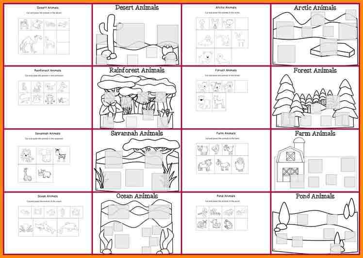 6+ Animal Habitats Worksheets