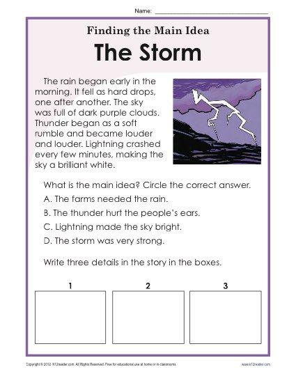 6th Grade Main Idea Worksheets Worksheets For School