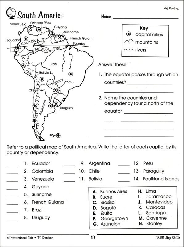 6th Grade Map Skills Worksheets Printable Worksheets For All