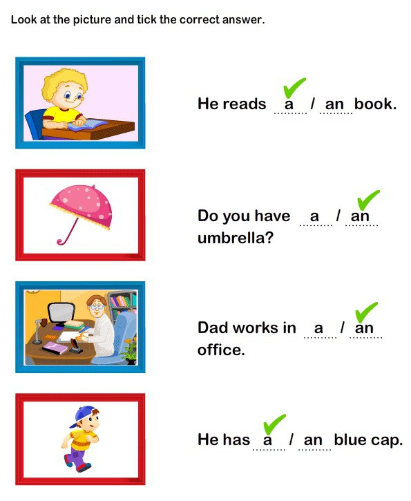 A And An Worksheets For  8 Worksheet