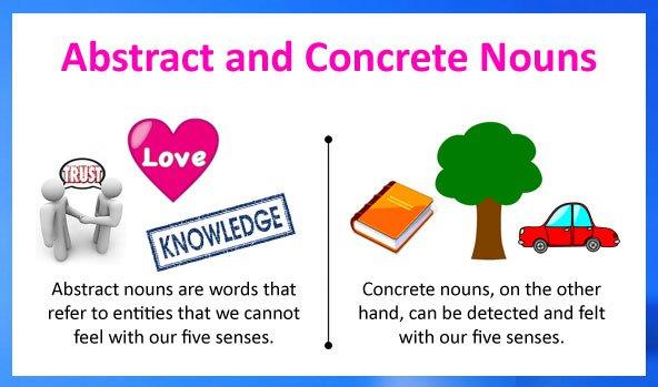 Abstract Nouns And Concrete Nouns
