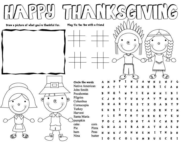 Adult Thanksgiving Worksheets Worksheets For All