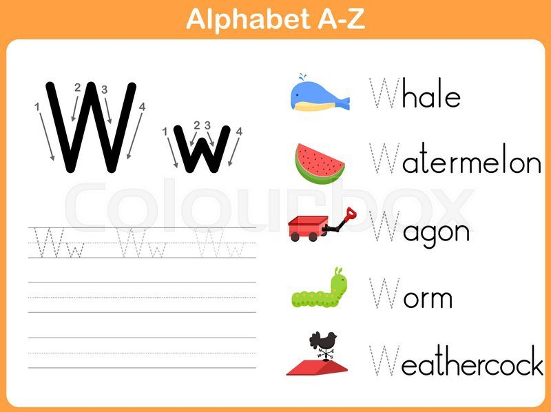 Alphabet Tracing Worksheet  Writing A
