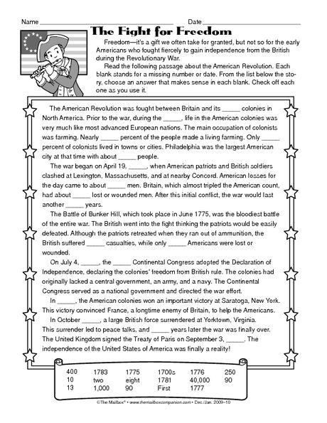 American Revolution Worksheet The Best Worksheets Image Collection