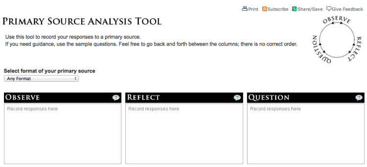 Analysis Worksheets, Evidence, And Primary Documents