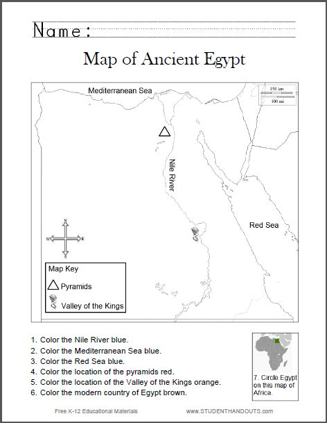 Ancient Egypt  Environment Study Guide Outline