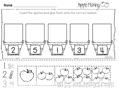 Apples Worksheets Kindergarten Worksheets For All