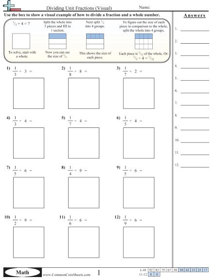 Area Model Division Worksheet Worksheets For All