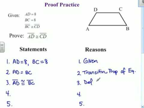 Beginning Geometry Proofs Worksheets Worksheets For All