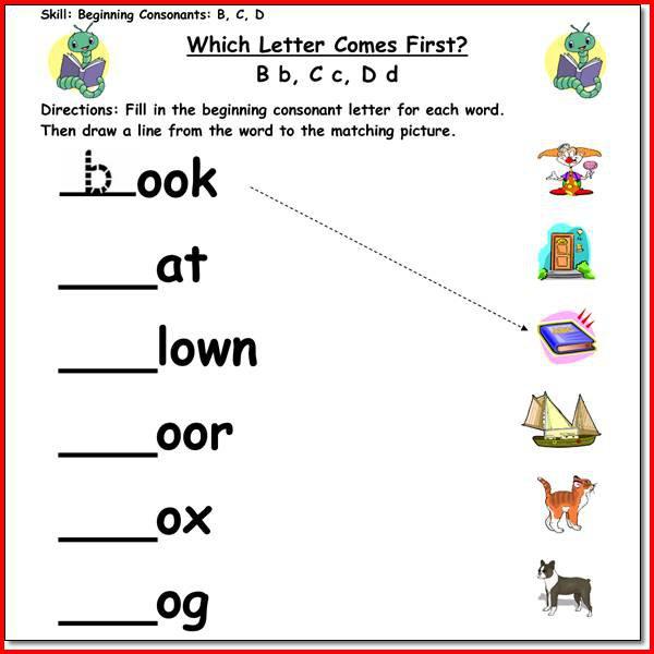 Beginning Reading Worksheets Worksheets For All