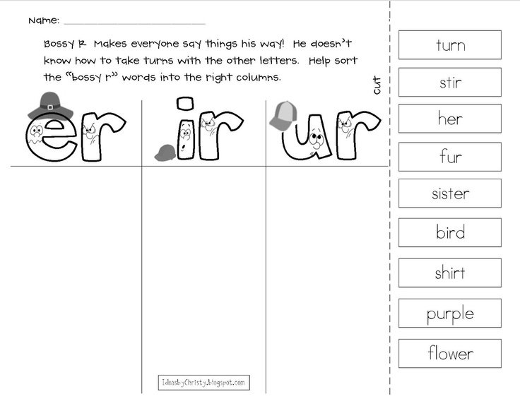 Best Solutions Of Er Ir Ur Phonics Worksheets Also Job Summary