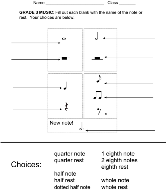 Beth's Music Notes  Rhythm Worksheets