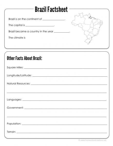 Brazil Geography Printables