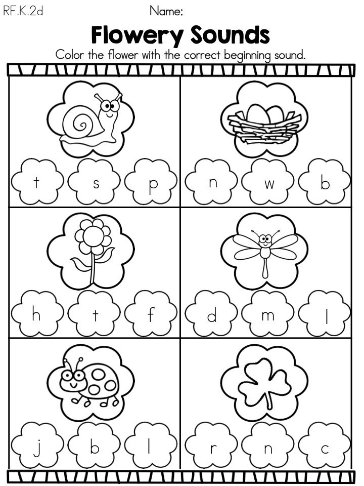Brilliant Ideas Of Spring Worksheets For Preschoolers With
