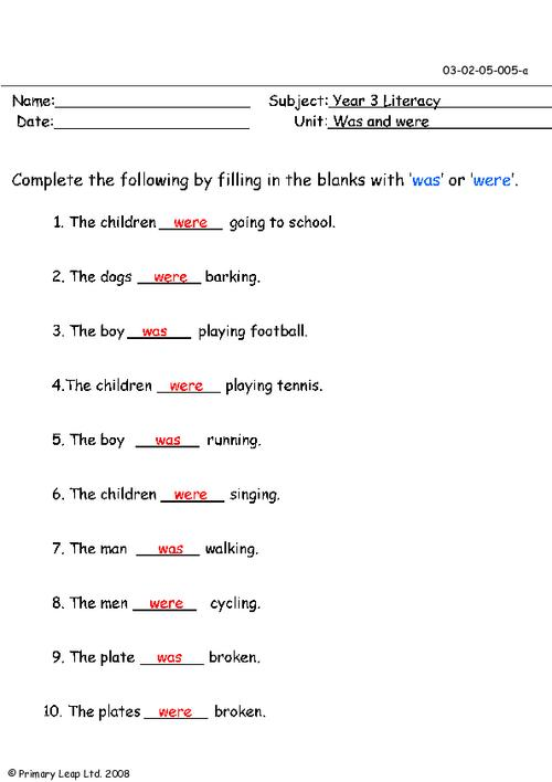 Brilliant Ideas Of Were And Where Worksheets With Additional