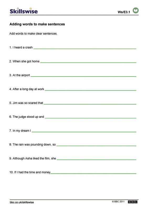 Bunch Ideas Of 6th Grade Sentence Structure Worksheets With