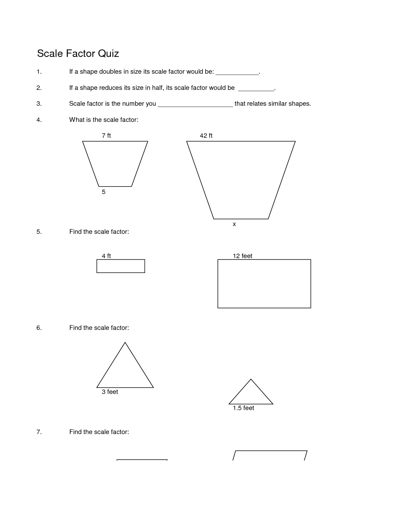 Bunch Ideas Of Scale Factor Worksheets 7th Grade About Sample