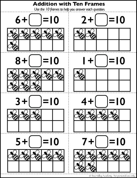 Bunch Ideas Of Ten Frame Math Worksheets For Your Format Sample