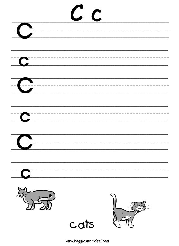 C Printable Worksheets Cc